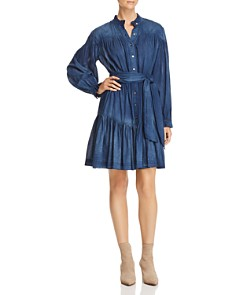 Rebecca Taylor - Long-Sleeve Tissue-Denim Dress